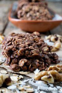 No-Bake Chocolate Oatmeal Cookies - A Family Feast