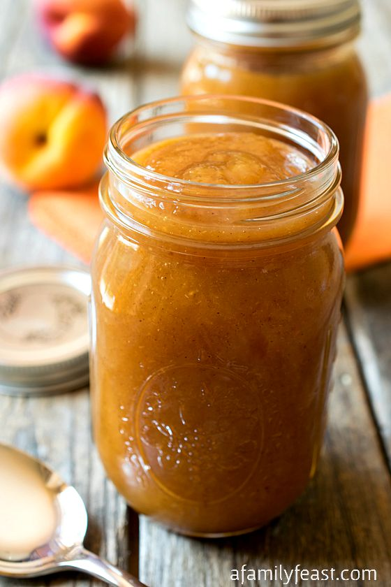 Peach Butter - Simple to make, perfect for canning, and a delicious way to enjoy summer peach flavor all year long!