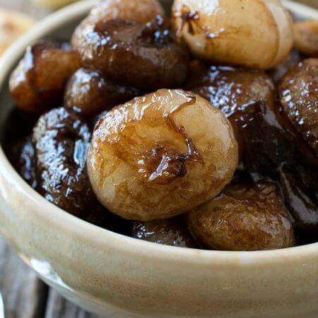 Sweet and Sour Balsamic Glazed Onions - A Family Feast