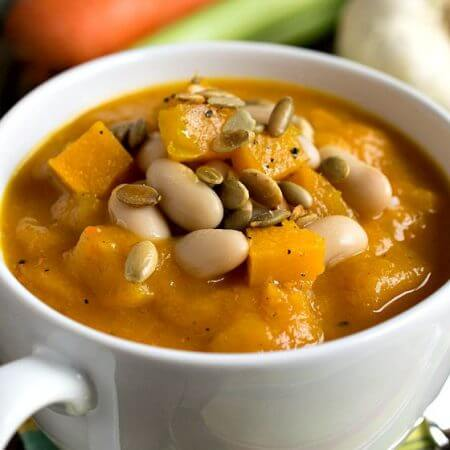 Blue Hubbard Squash and White Bean Soup - A Family Feast