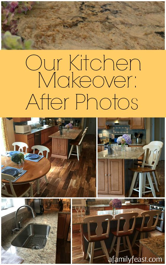 Our Kitchen Makeover: After Photos. Come see the changes we made in our kitchen!