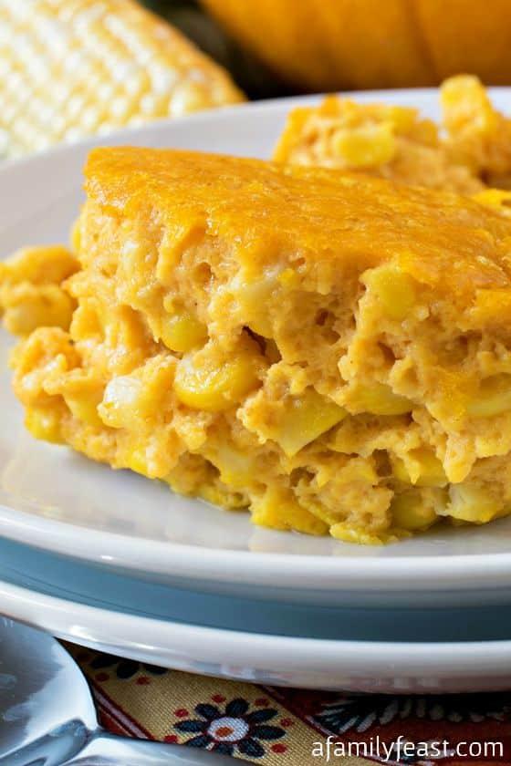 Pumpkin Corn Pudding - A Family Feast