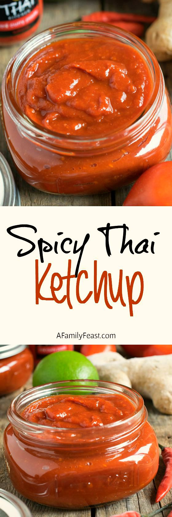 Spicy Thai Ketchup - Kick things up a bit with this easy and delicious spicy Thai ketchup!