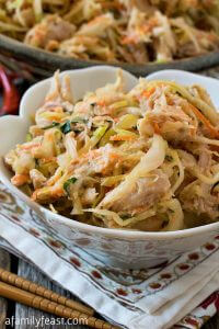 Vietnamese Chicken and Cabbage Slaw - A Family Feast
