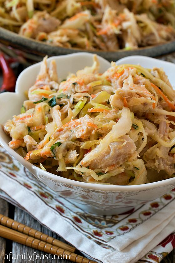 Vietnamese Chicken and Cabbage Salad - A Family Feast