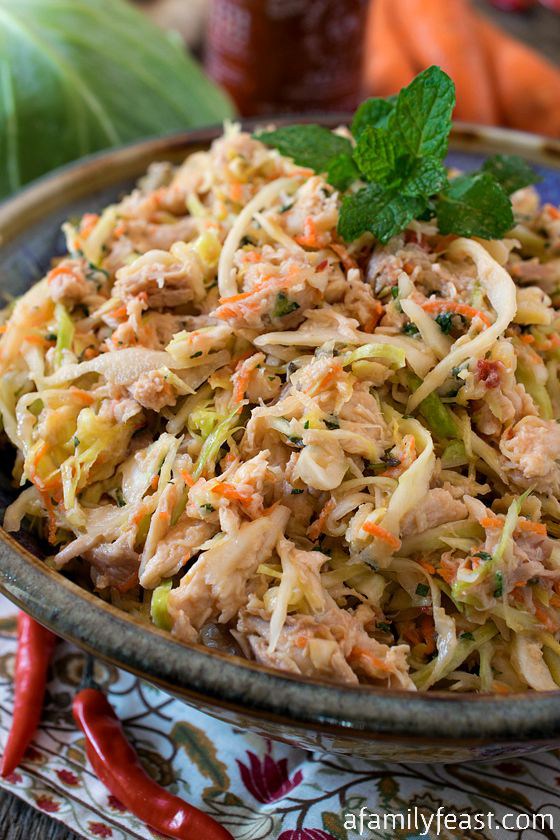 Vietnamese Chicken and Cabbage Salad - A super simple, super flavorful salad that is delicious as a main dish or side!