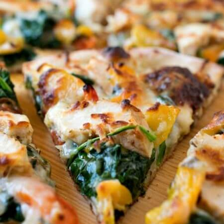White Chicken Pizza - A Family Feast