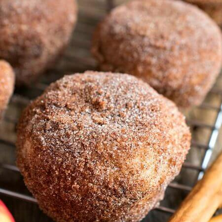 Apple Doughnut Bombs - A Family Feast