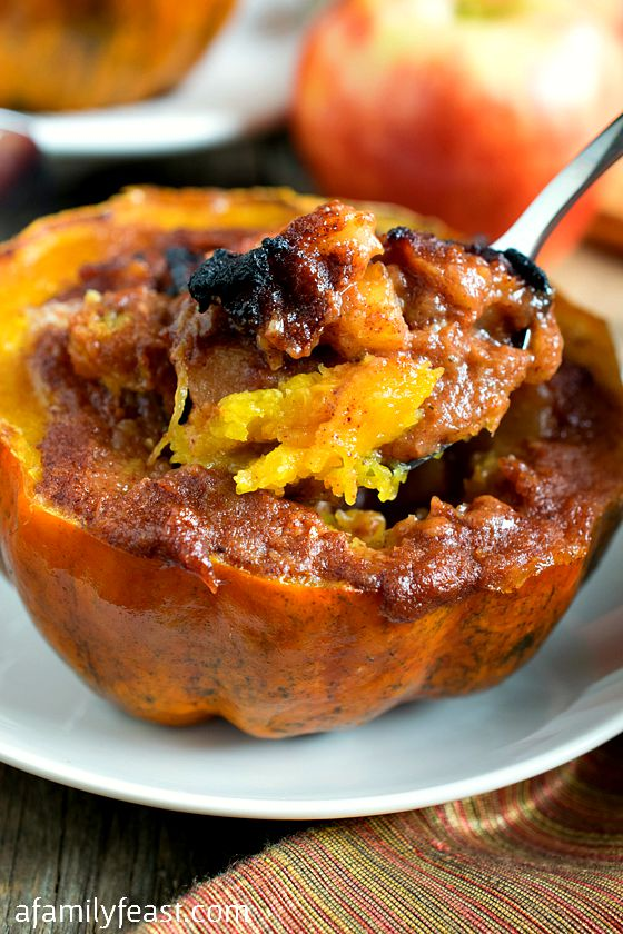 Apple Stuffed Acorn Squash - A Family Feast