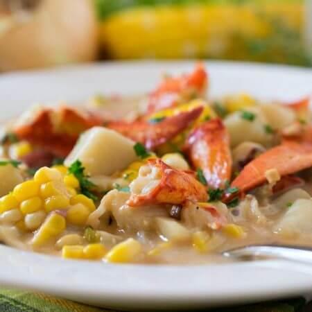 Lobster Corn Chowder - A Family Feast