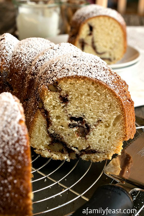 Sour Cream Streusel Coffeecake - A Family Feast