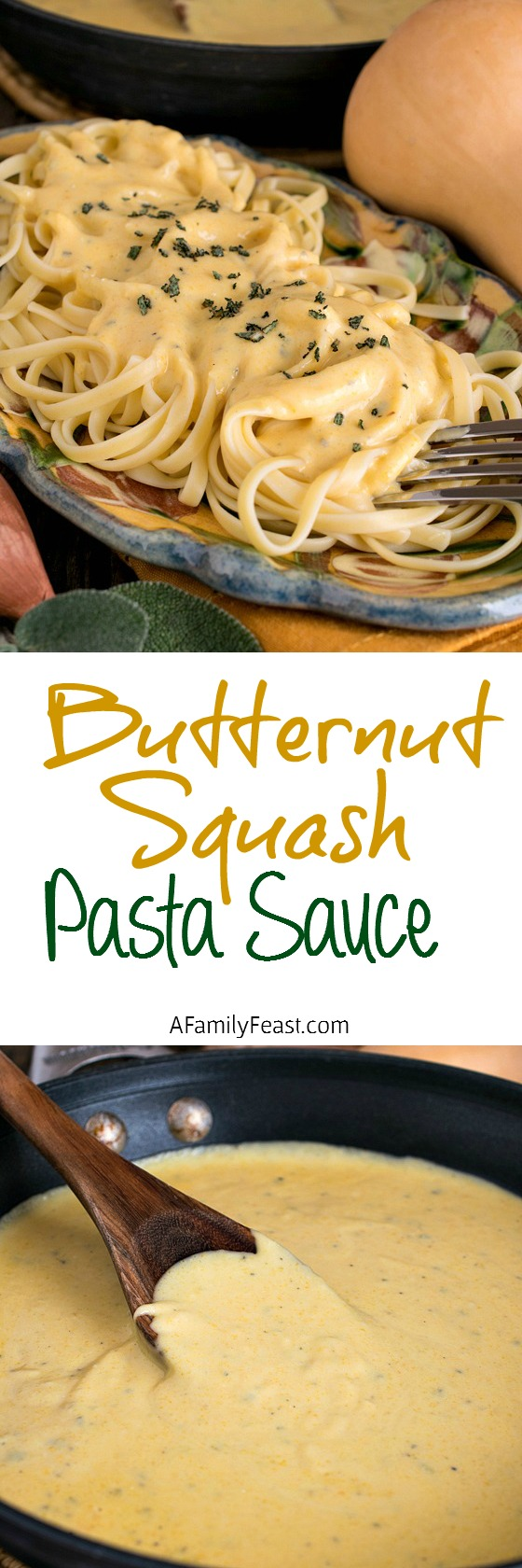 Butternut Squash Pasta Sauce - A Family Feast