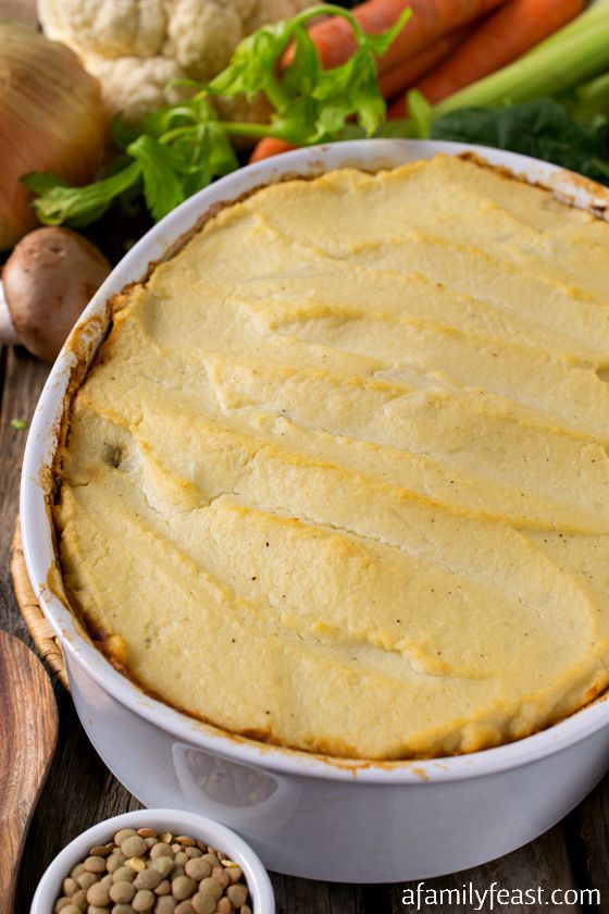 Vegetable Shepherd's Pie - You won't miss the meat in this Vegetable Shepherd's Pie! Tons of flavor and chock-full of vegetables! A must-try recipe!