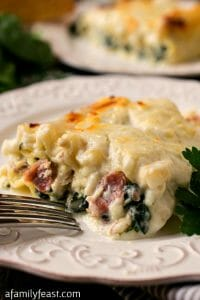 White Lasagna Chicken Rollups - A Family Feast
