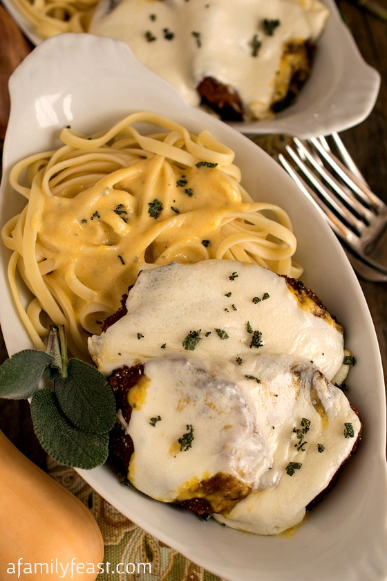Butternut Squash Parmesan with Linguine - A Family Feast