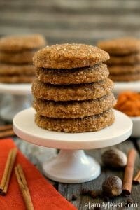 Pumpkin Spice Sugar Cookies - A Family Feast