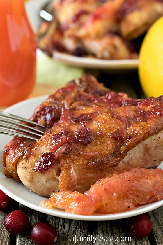 Ruby Red Grapefruit and Cranberry Chicken - A Family Feast