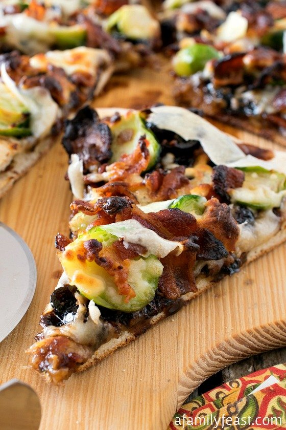 Brussels Sprouts and Bacon Pizza - A Family Feast