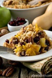 Baked Winter Squash and Apple Casserole with Crispy Topping - A Family Feast