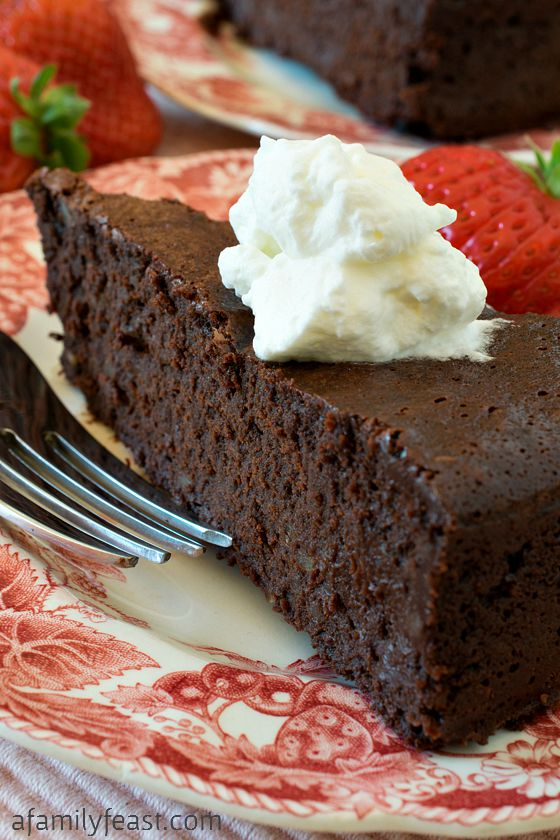 Chocolate-Bourbon Pecan Torte - A Family Feast