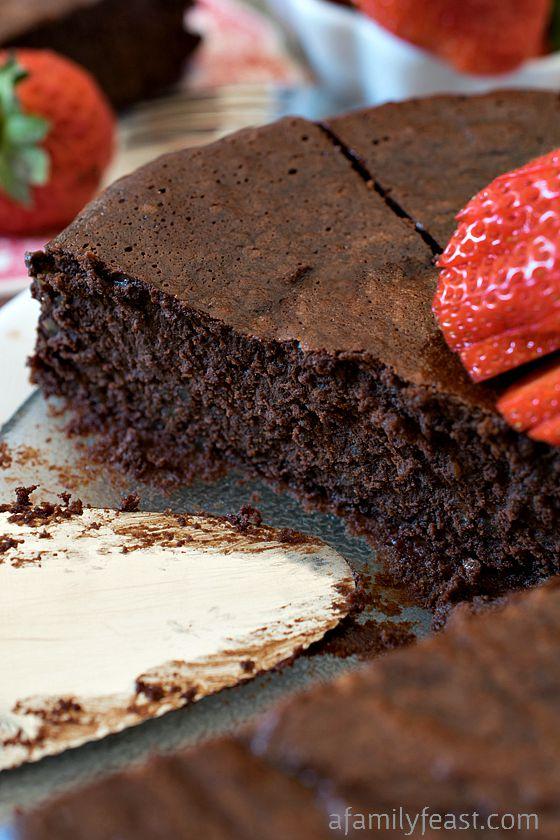 Chocolate-Bourbon Pecan Torte - A Family Feast