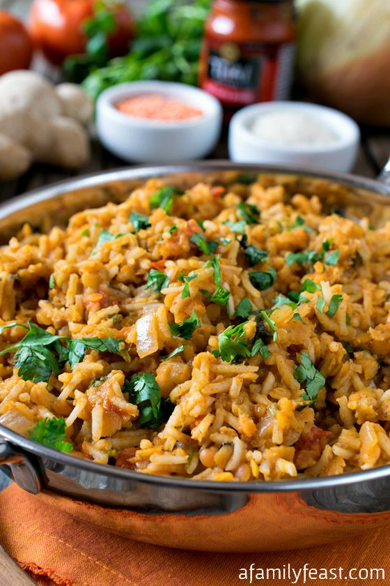 Curried Rice Pilaf With Red Lentils - A Family Feast
