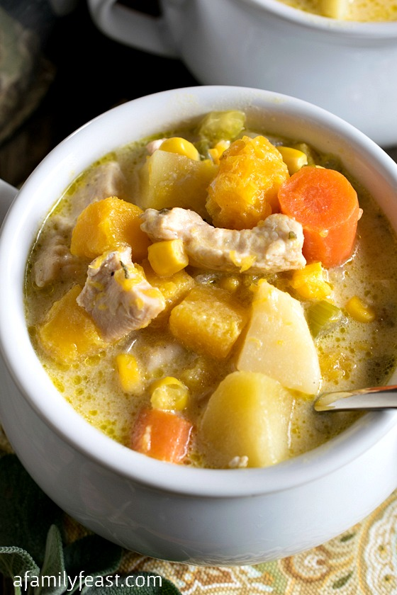 Butternut Squash and Chicken Chowder - A Family Feast