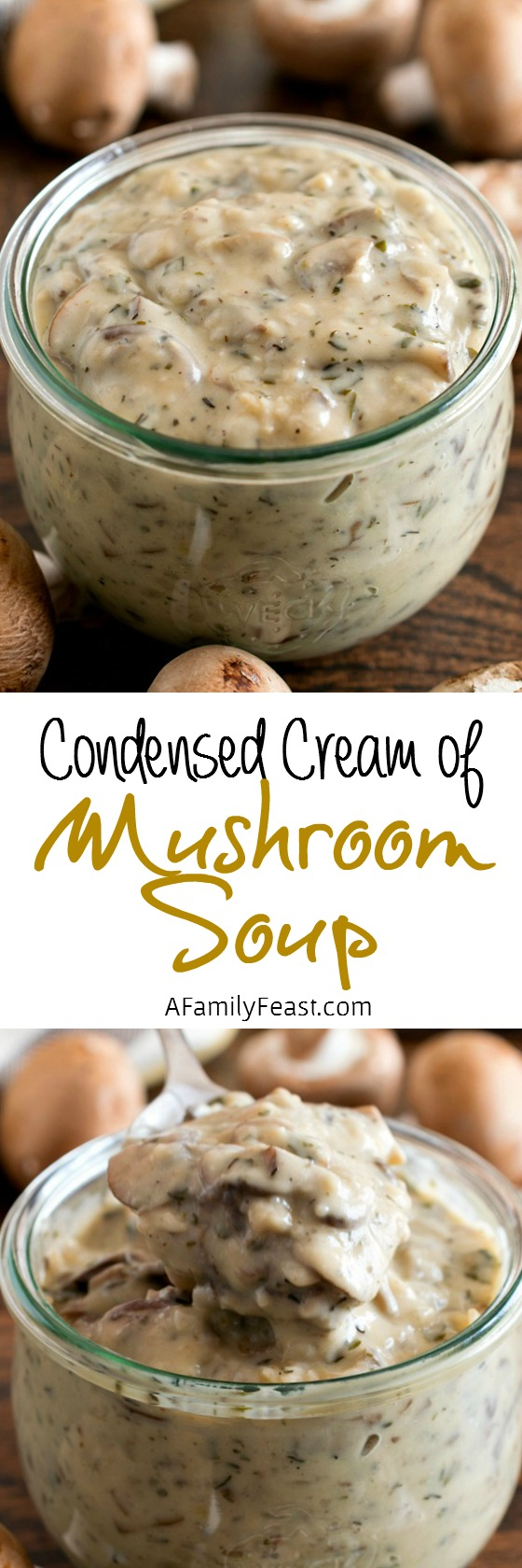 Condensed Cream of Mushroom Soup - A Family Feast
