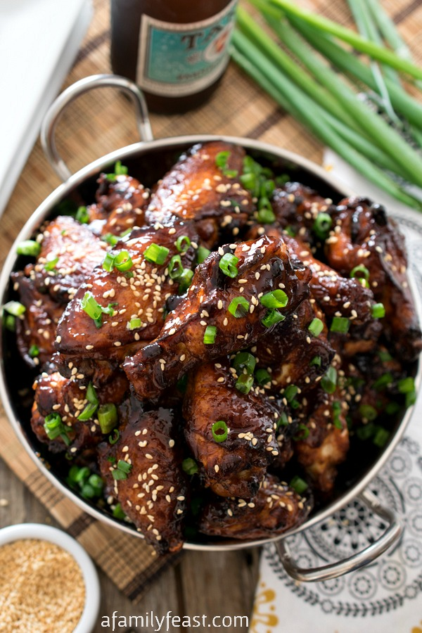 Korean Barbecue Chicken Wings - A Family Feast