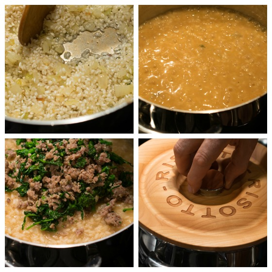 Sausage and Broccoli Rabe Risotto - A Family Feast