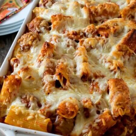 Three Cheese Baked Ziti - A Family Feast