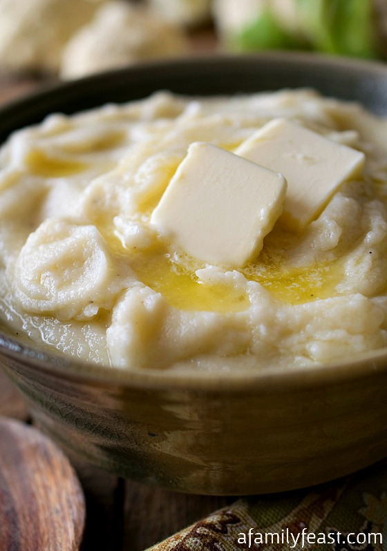 Cauliflower Purée is a very delicious alternative to traditional mashed potatoes – and a great way to add some more vegetables into any meal!