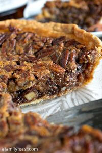 Chocolate Bourbon Pecan Pie - A Family Feast