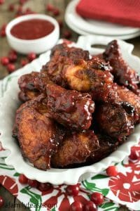 Cranberry Buffalo Wings - A Family Feast