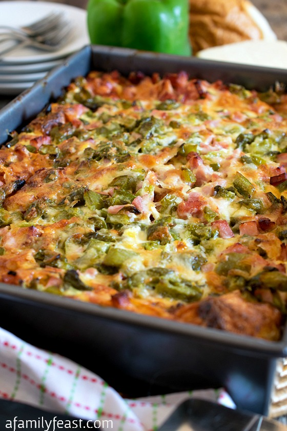 Ham and Cheese Breakfast Casserole - A Family Feast