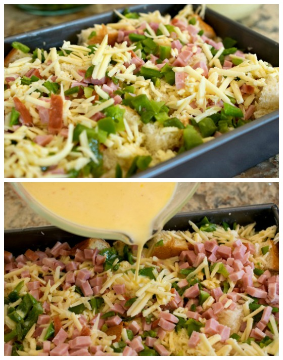 This Ham and Cheese Breakfast Casserole is a perfect dish to feed a crowd on a holiday morning - or a delicious way to cook with leftover holiday ham!