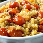 Pan Roasted Tomatoes with Quinoa