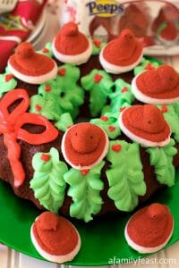 Red Velvet PEEPS® Holiday Wreath Cake - A Family Feast