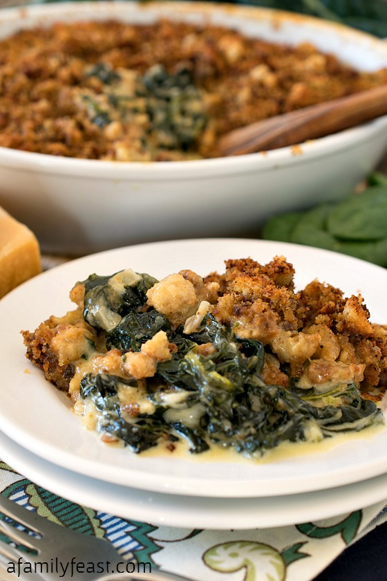 Our Spinach and Kale Gratin is the ultimate winter comfort food and a delicious addition to any holiday menu!