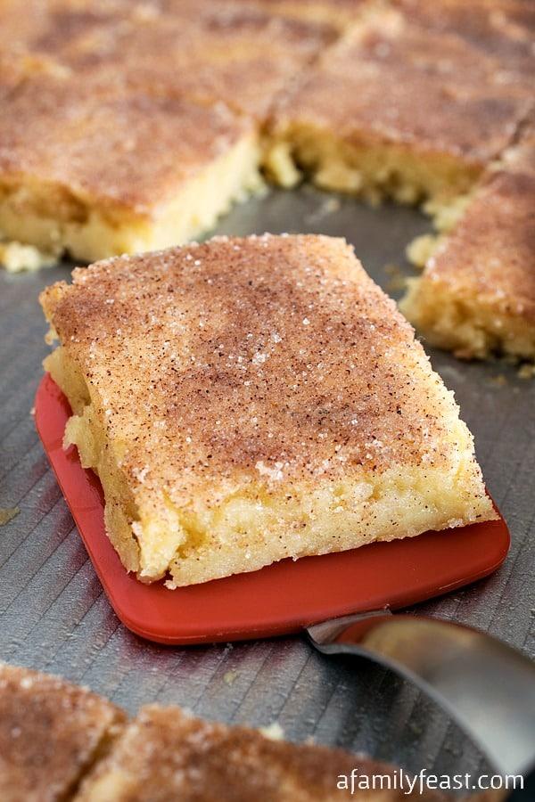 Chai Sugar Cookie Squares - A Family Feast