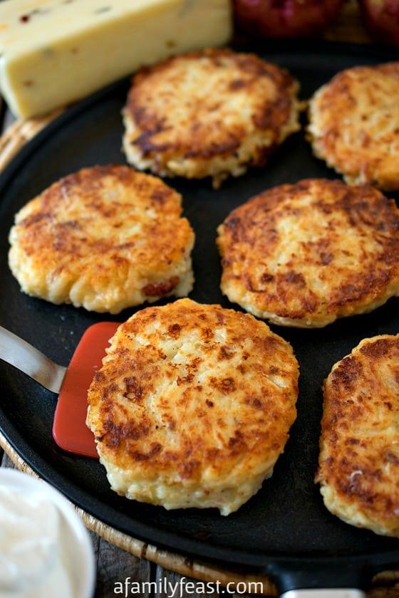Pepper Jack Potato Pancakes - A Family Feast