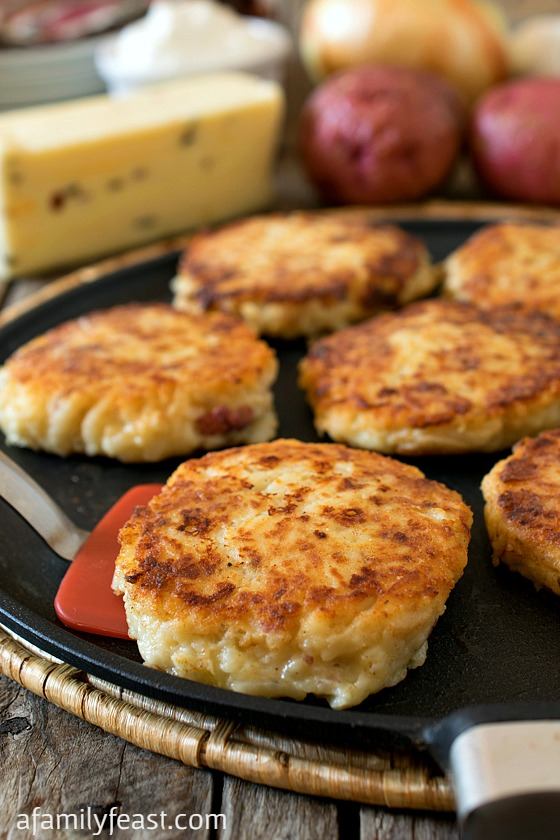 Pepper Jack Potato Pancakes - A Family Feast