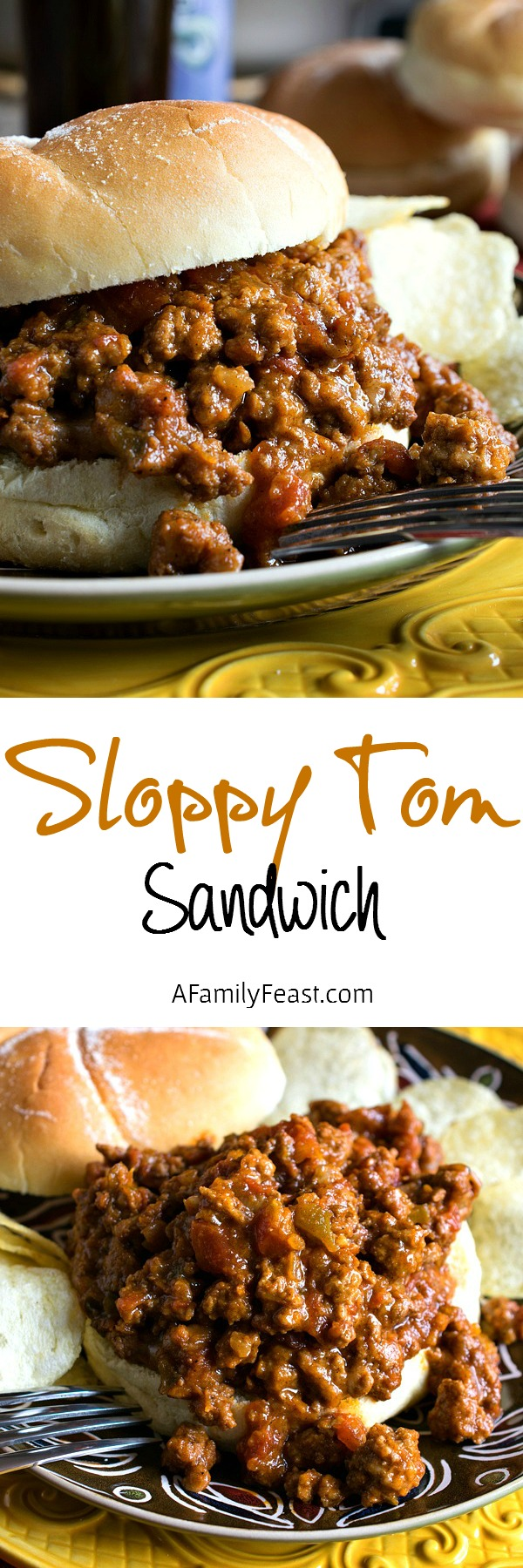 A Sloppy Tom Sandwich is Sloppy Joe's delicious poultry cousin! Perfect for game day parties!