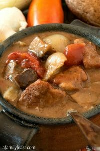 Veal and Portobello Mushroom Stew - A Family Feast