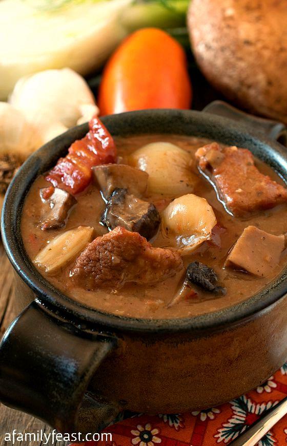 Veal and Portobello Mushroom Stew - A Family Feast