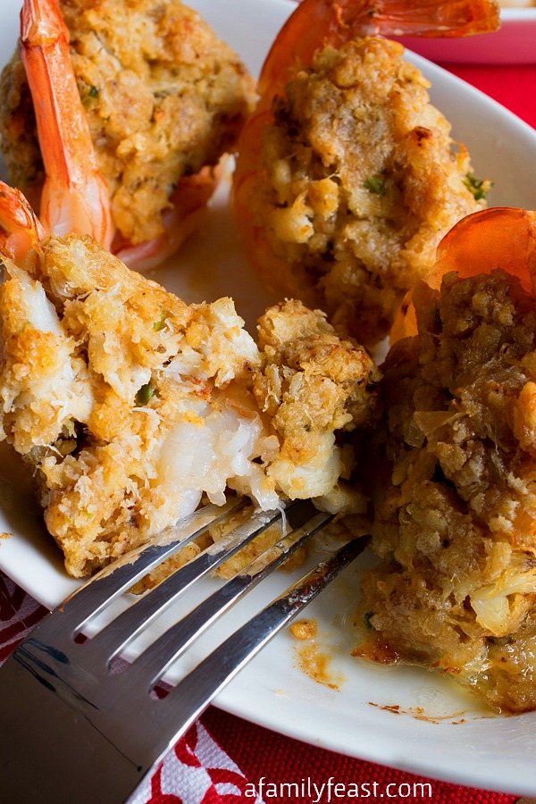 Baked Stuffed Shrimp - A Family Feast