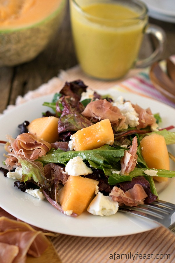 Mixed Greens with Prosciutto and Cantaloupe - A Family Feast