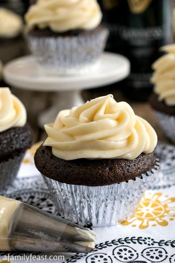 Boozy Guinness Cupcakes - A Family Feast