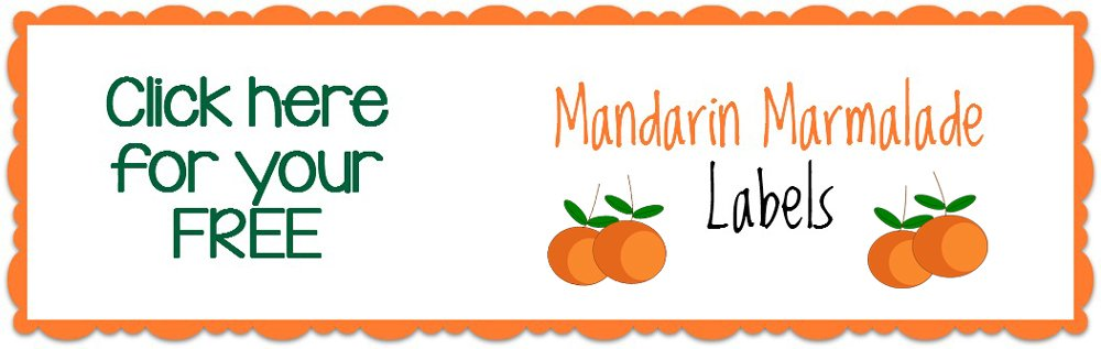 Mandarin Marmelade Label Printable - A Family Feast