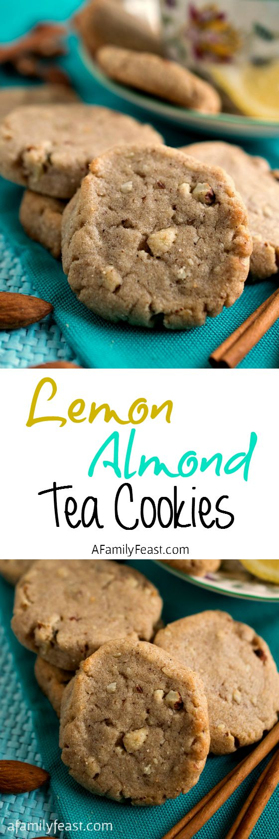 Lemon Almond Tea Cookies - A vintage cookie recipe from 1897. Perfect with tea or a glass of milk!